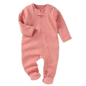 CORAL | Baby toddler organic footie jumpsuit